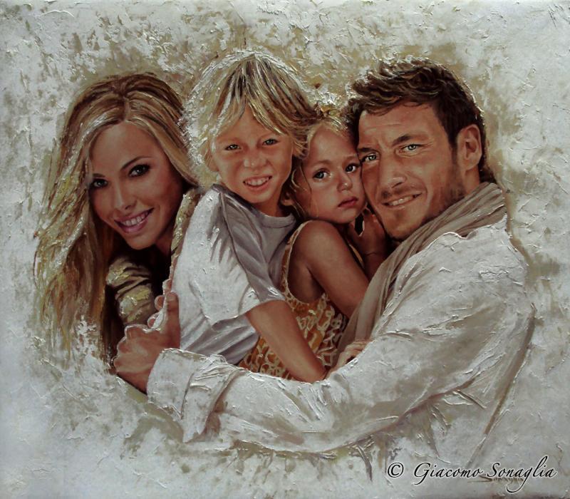 spesso Ritratto della famiglia Totti | Giacomo Sonaglia XD77